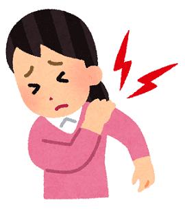 五十肩が痛い女性のイラスト