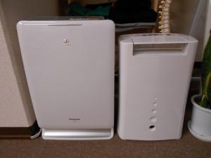 空気清浄機付き加湿器と除湿機