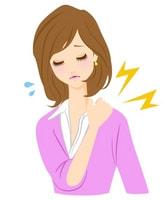 肩こりに悩む女性のイラスト