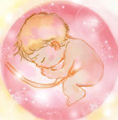 かわいい胎児のイラスト