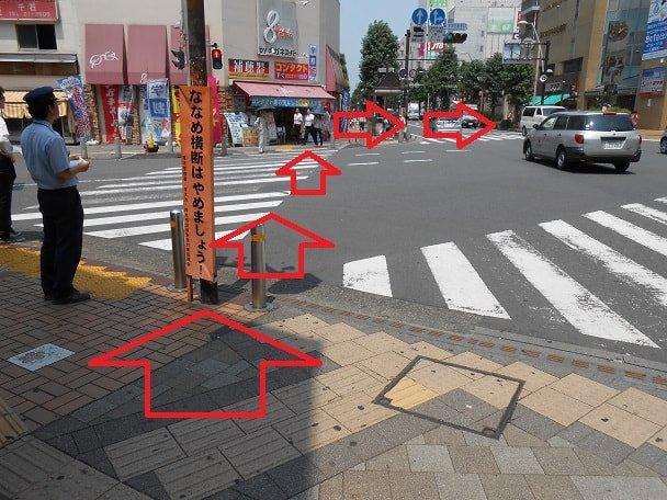 道順7 株式会社黄金井資生堂前の交差点