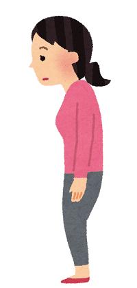 姿勢の悪い女性のイラスト