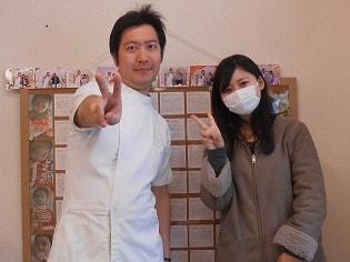 院長と顎関節症を改善した患者