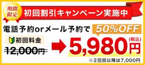 初回割引キャンペーン 12000円が5980円になります